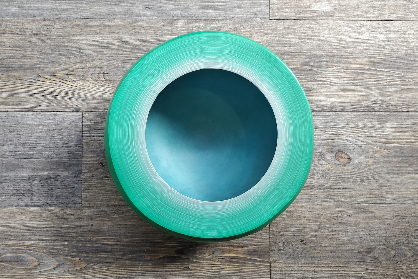 Fuzz Bowl Round / Turquoise Light Blue