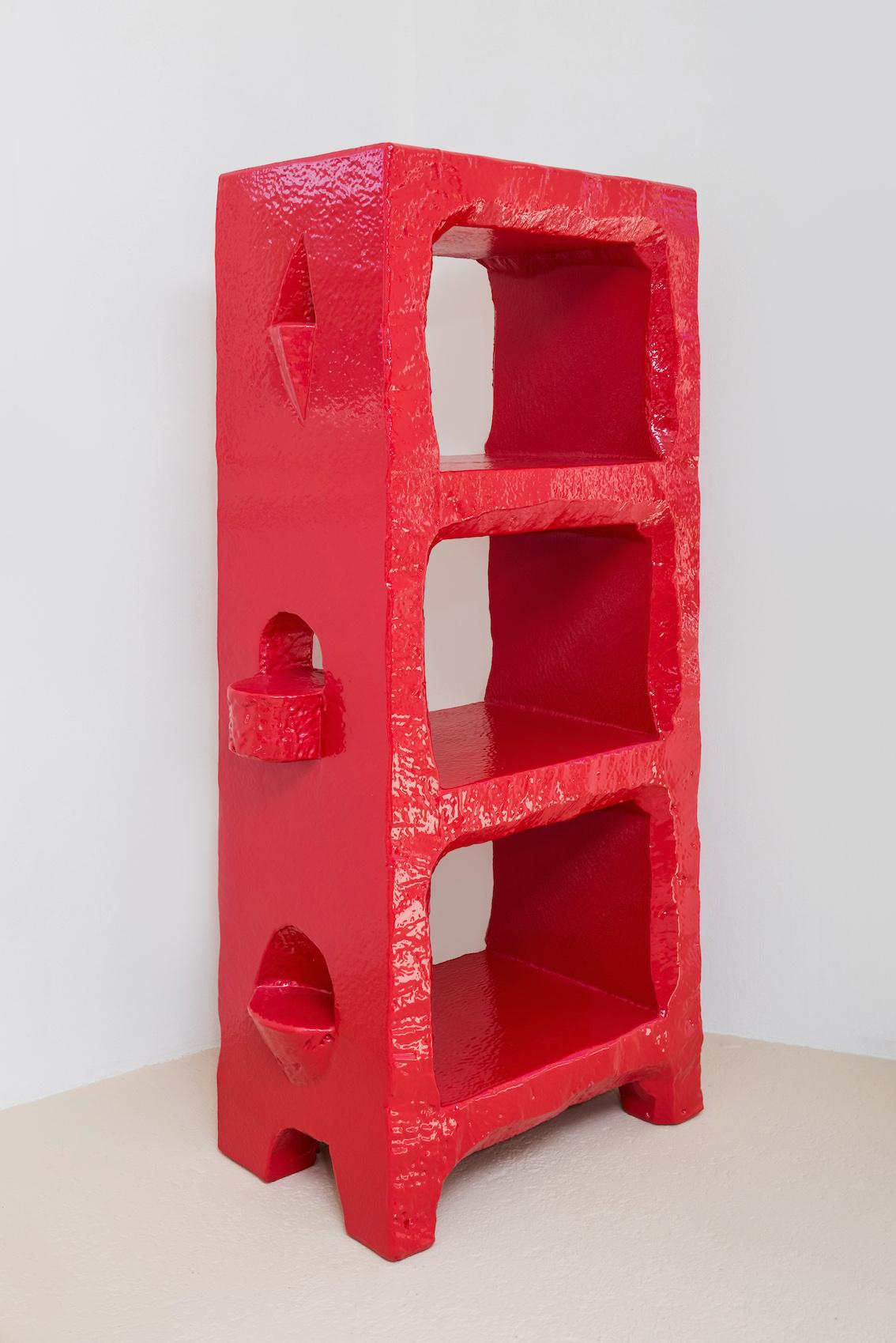 Poly Bookshelf (red)