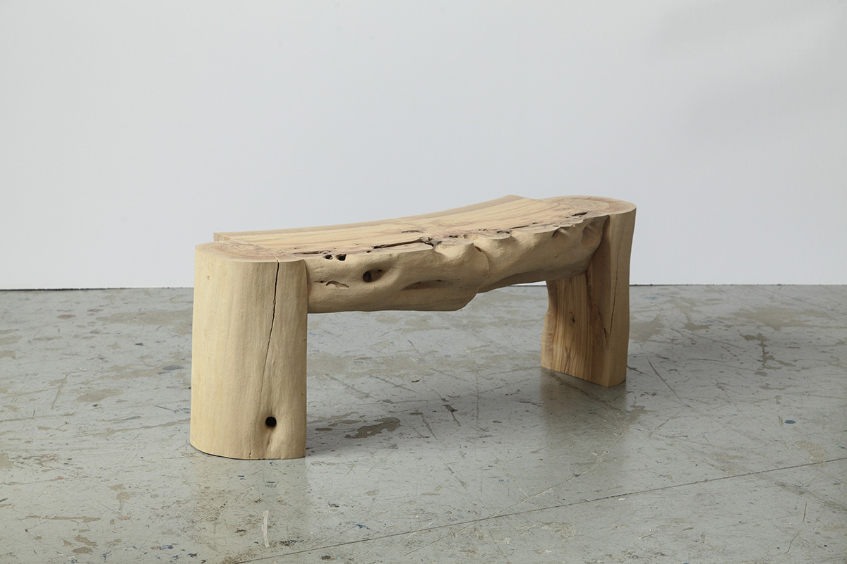 Sculptural Log Bench