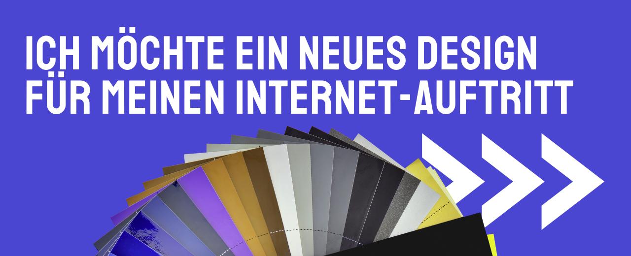 Ihr neues Design für Ihren Internet-Auftritt.