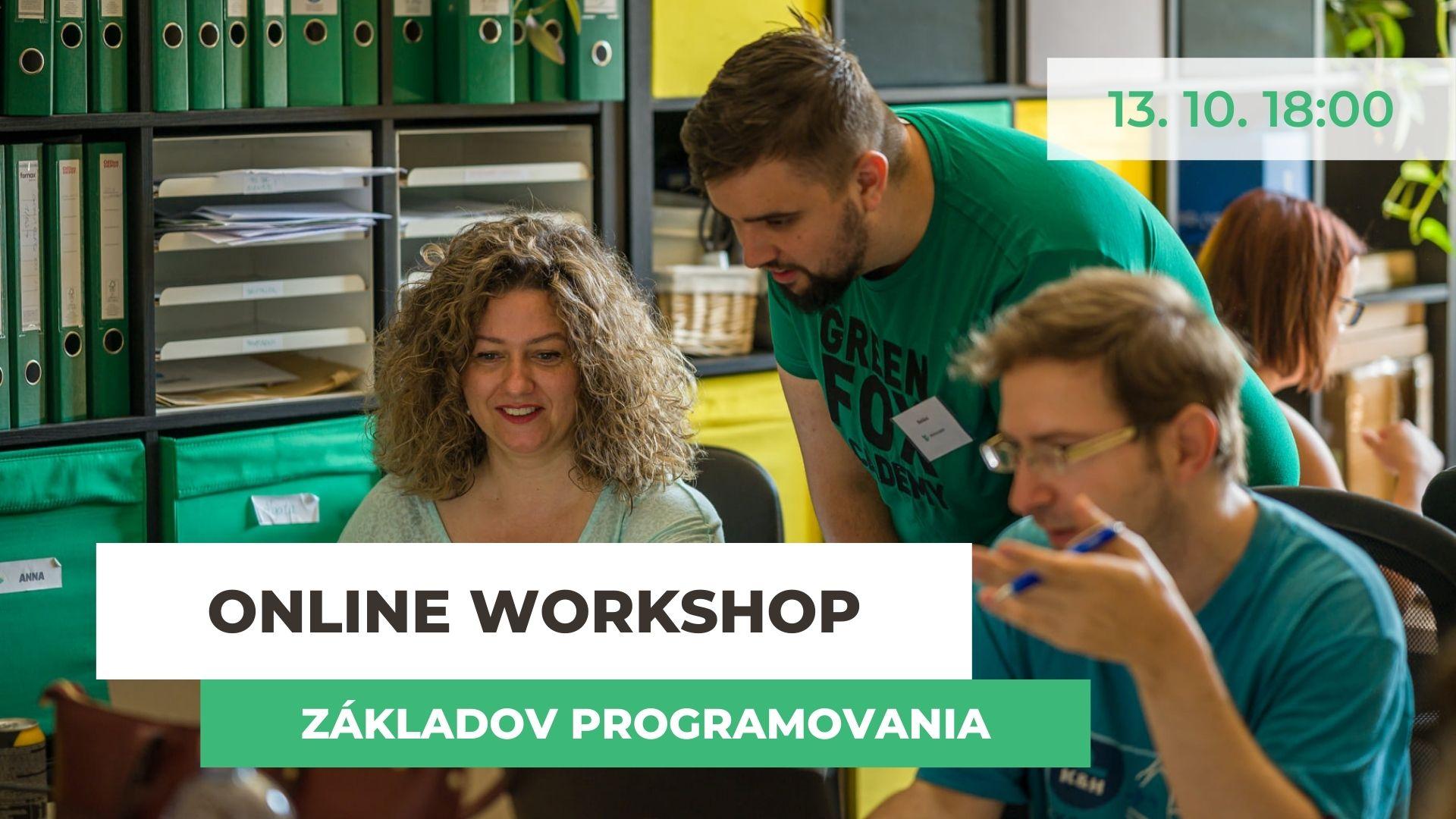 Workshop základov programovania