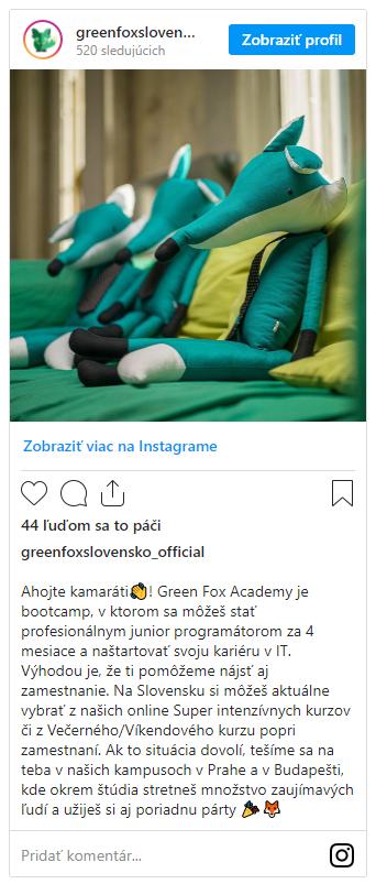green fox academy Instagram feed