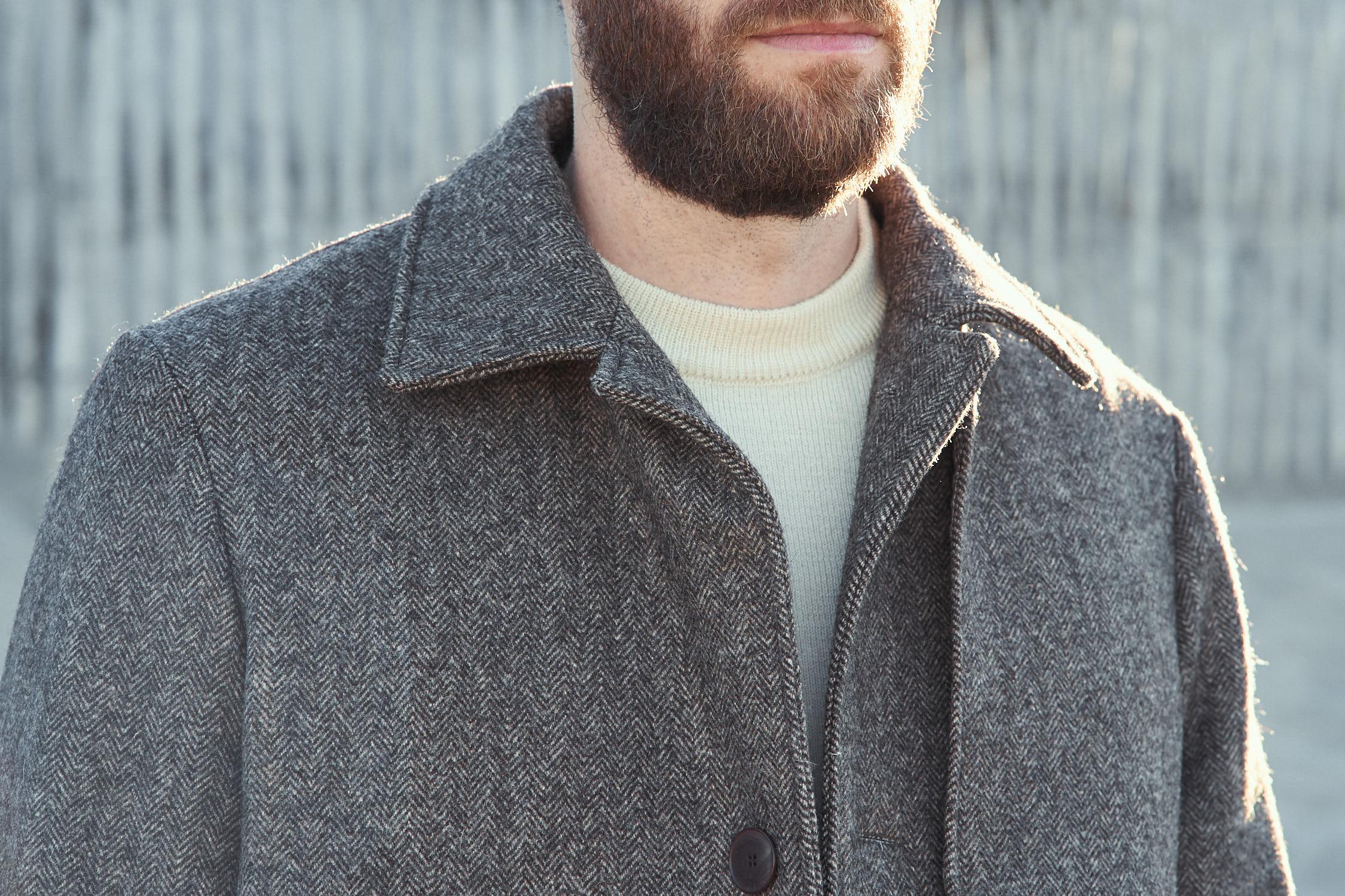 Manteau long hiver chevrons