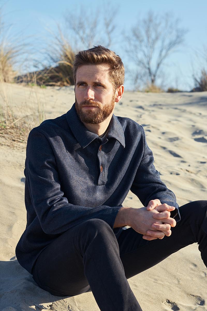 vareuse homme en laine et chanvre fabriquée en France