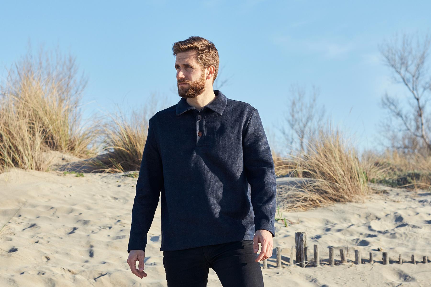 portrait vareuse jean chanvre et laine mérinos