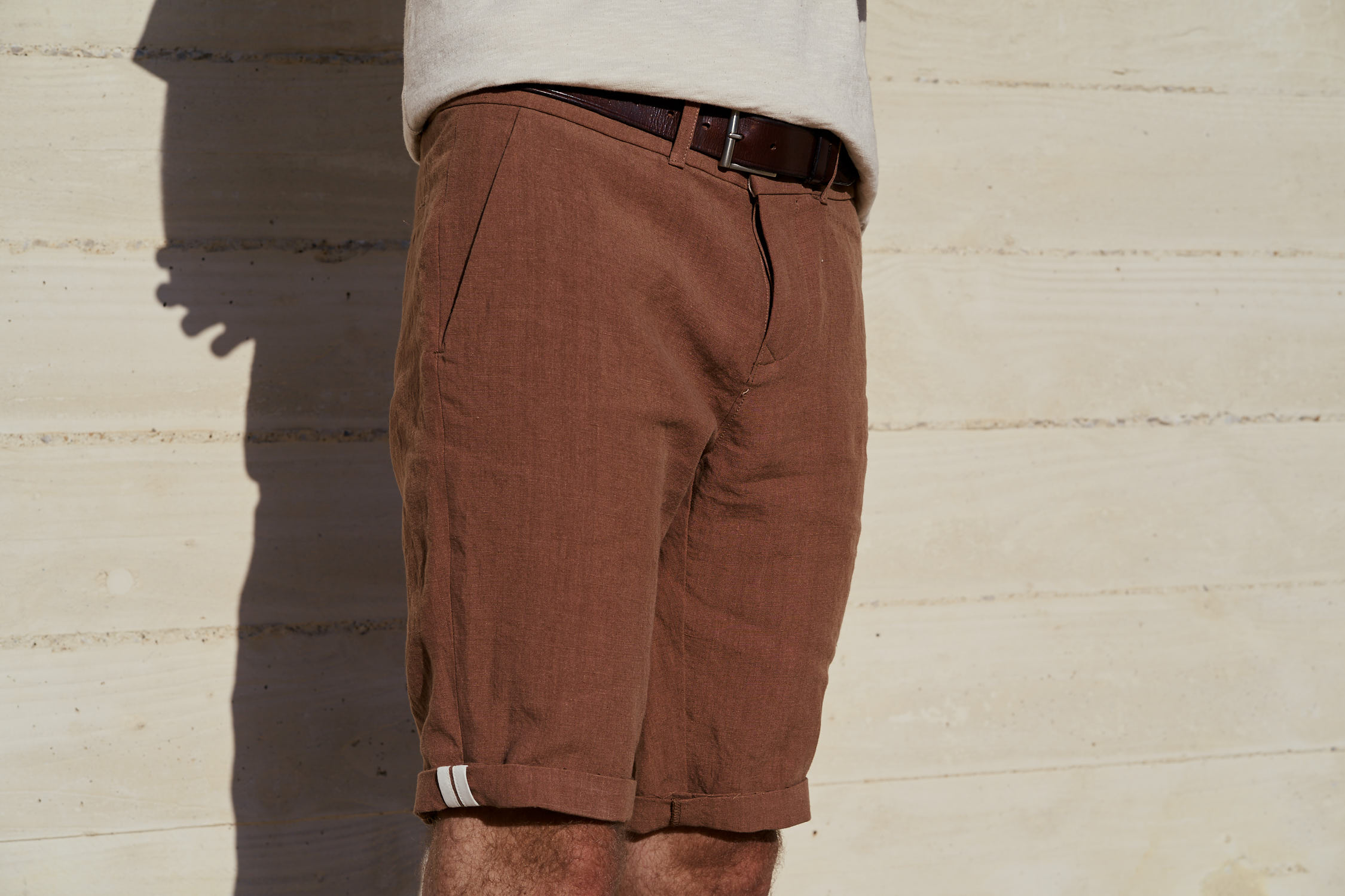 bermuda homme en lin fabriqué en France