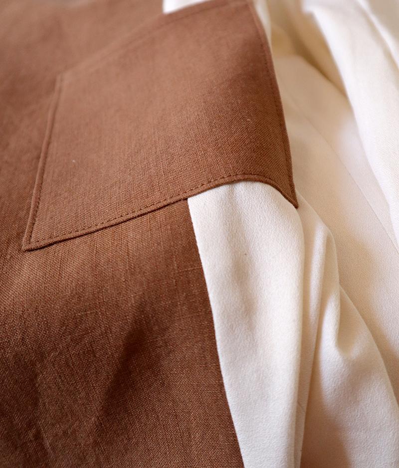 veste en lin homme doublée coton gots