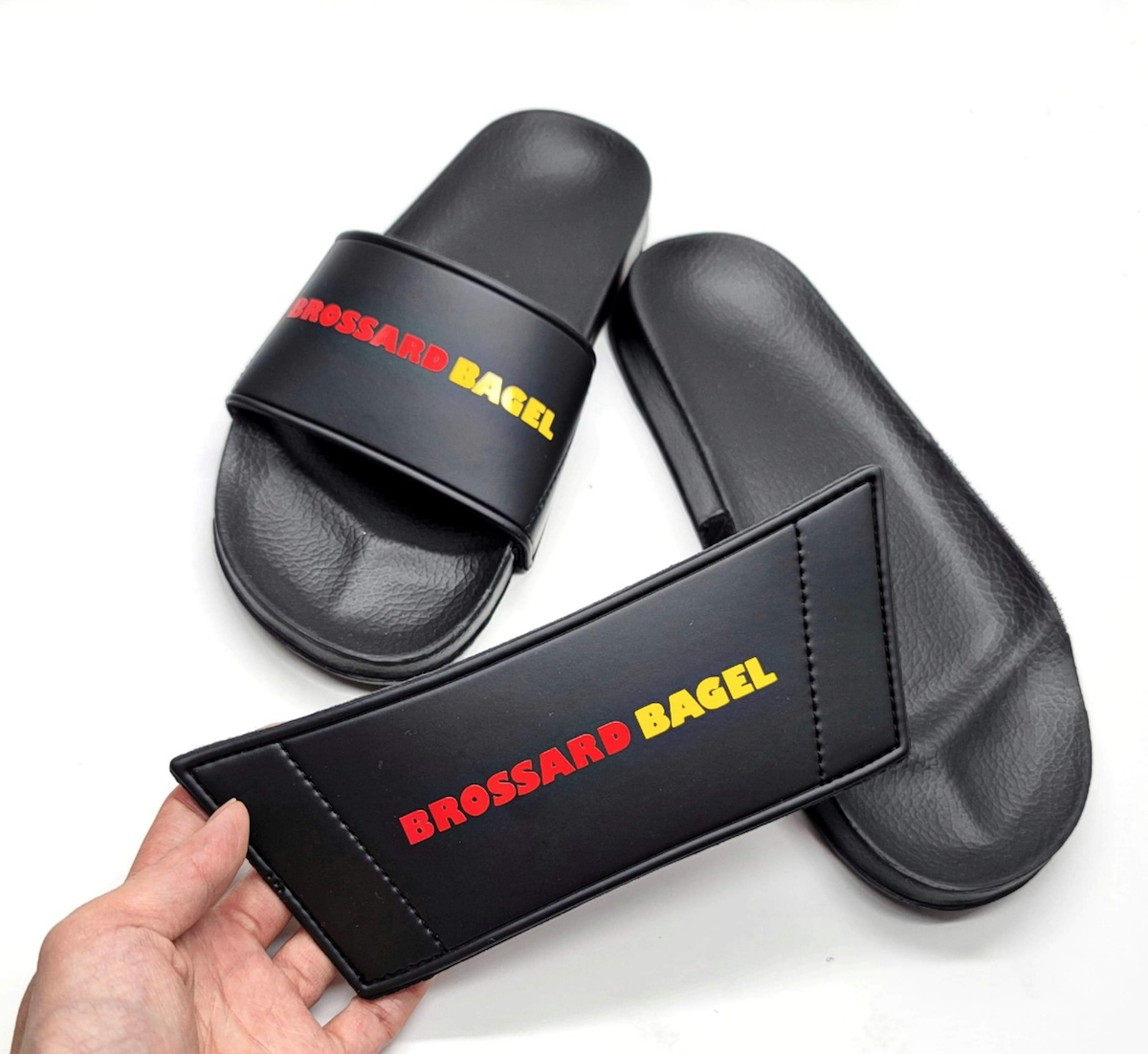 Sandales personnalisées à une marque