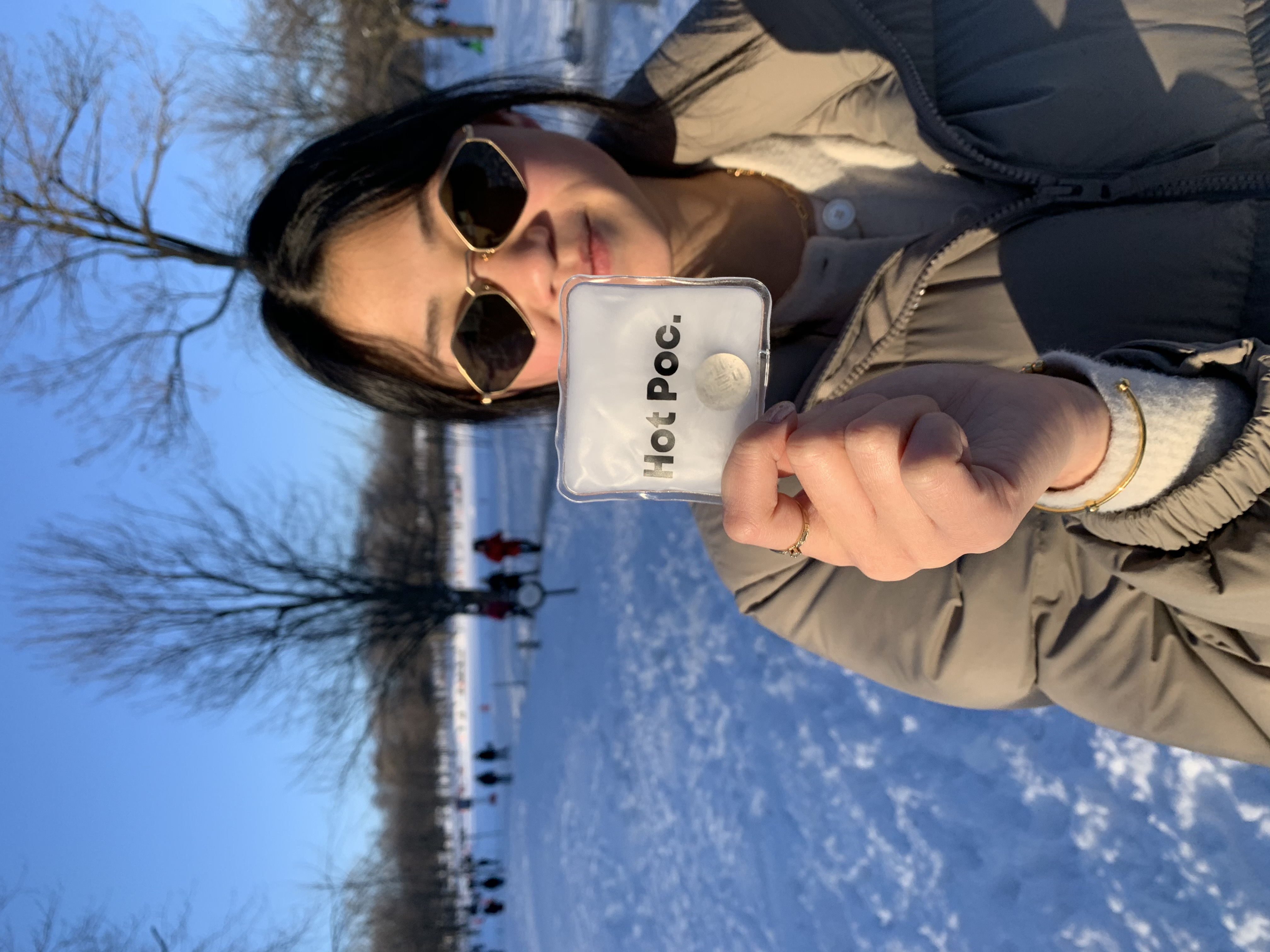 Odélie avec un Hot Poc au Mont-Royal