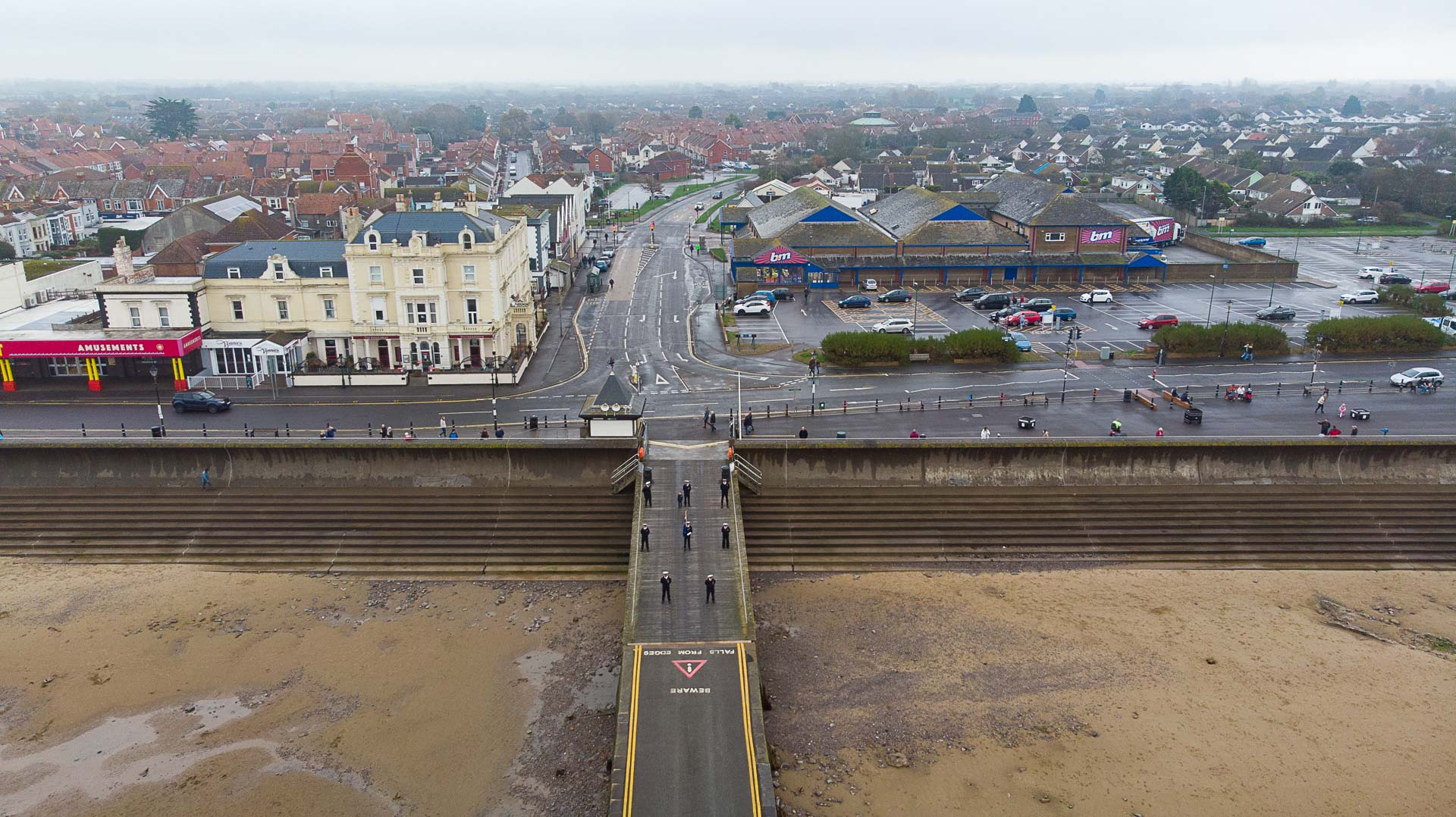 Aerial Drone Photography for Burnham on Sea Coastguard's Remembrance Day Parade
