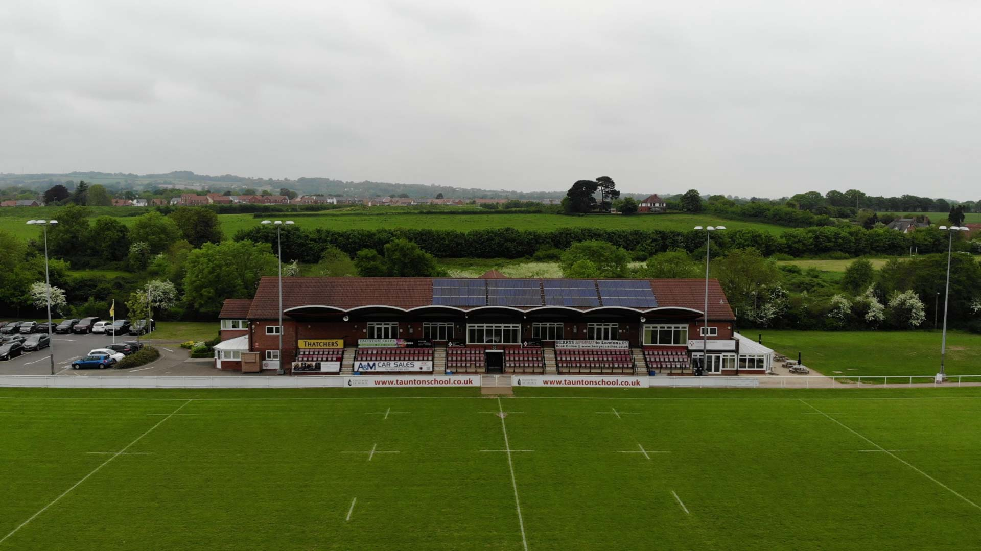 Aerial Drone Video for Taunton Rugby Club's Marketing