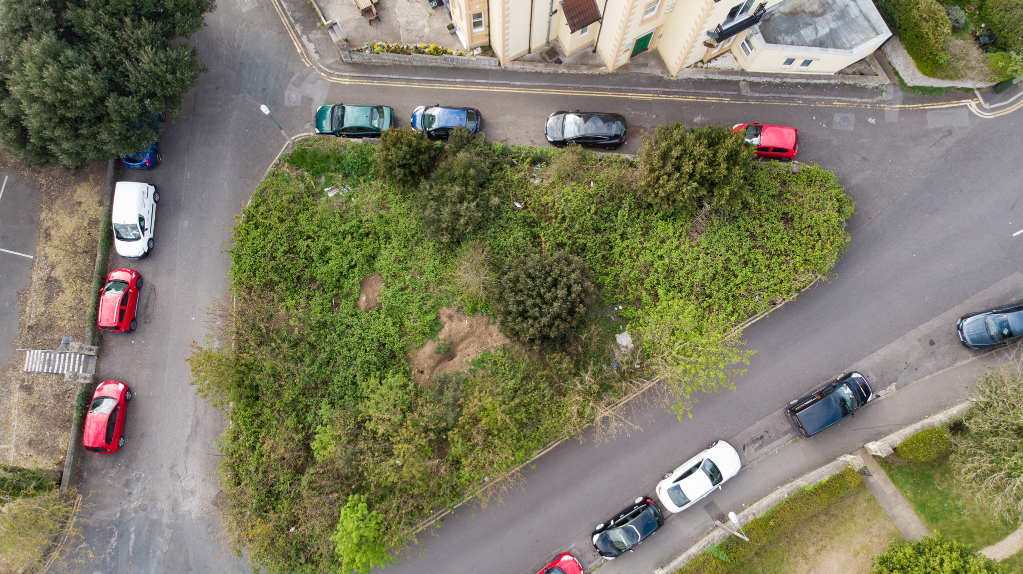Drone photo of land in Weston super Mare