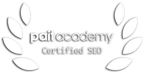 paitacademy certified seo badge