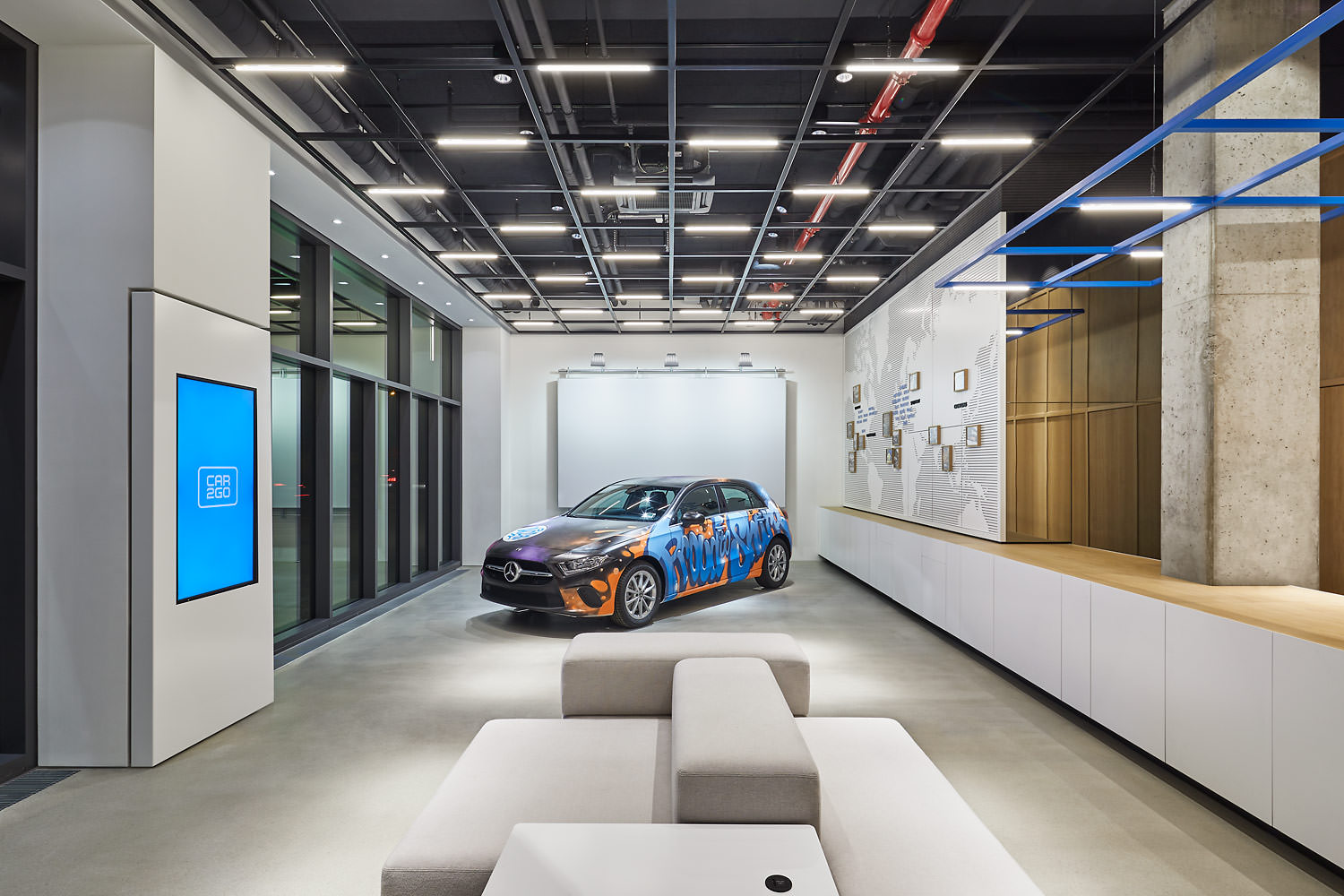 Architekturfotograf Berlin, Car2Go Showroom, Micha Klein & Sherief Sabet, Berlin