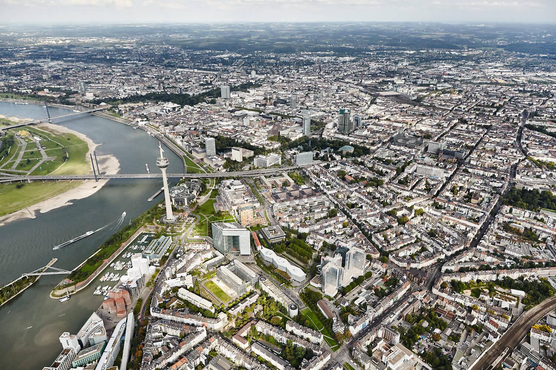 Medienhafen & Unterbilk | Luftbild | Düsseldorf