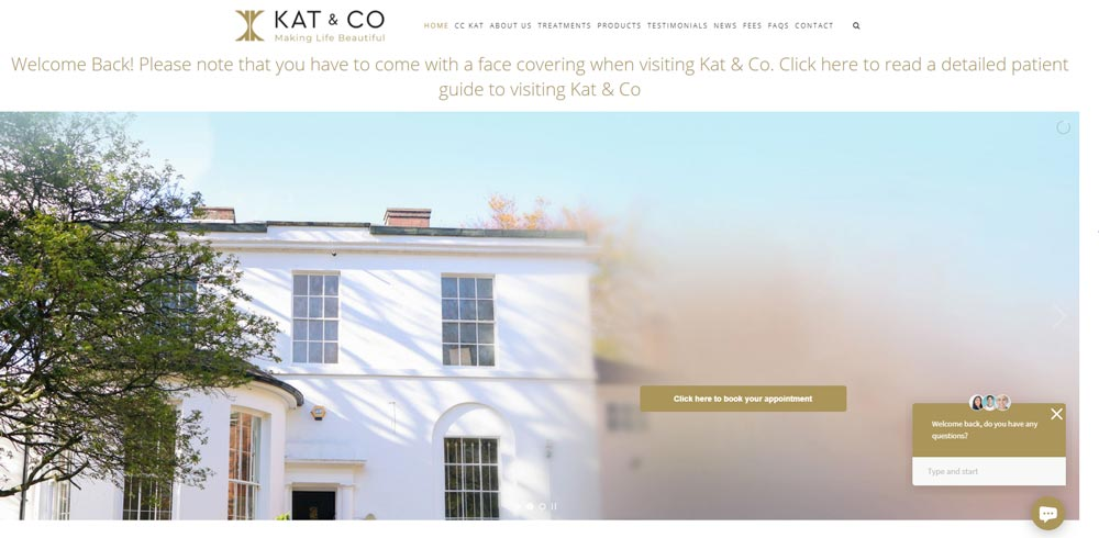 Kat & Co Aesthetic Website cckat.com