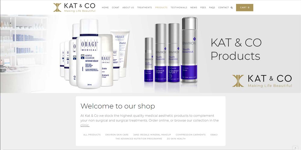 Kat & Co Aesthetics Ecommerce Store Image https://www.products.cckat.com