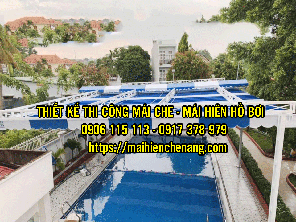 Cung Cấp Bạt Mái Hiên Che Nắng Mưa Bình Thuận, Thi Công Lắp Mái Bạt Xếp giá rẻ tại Bình Thuận