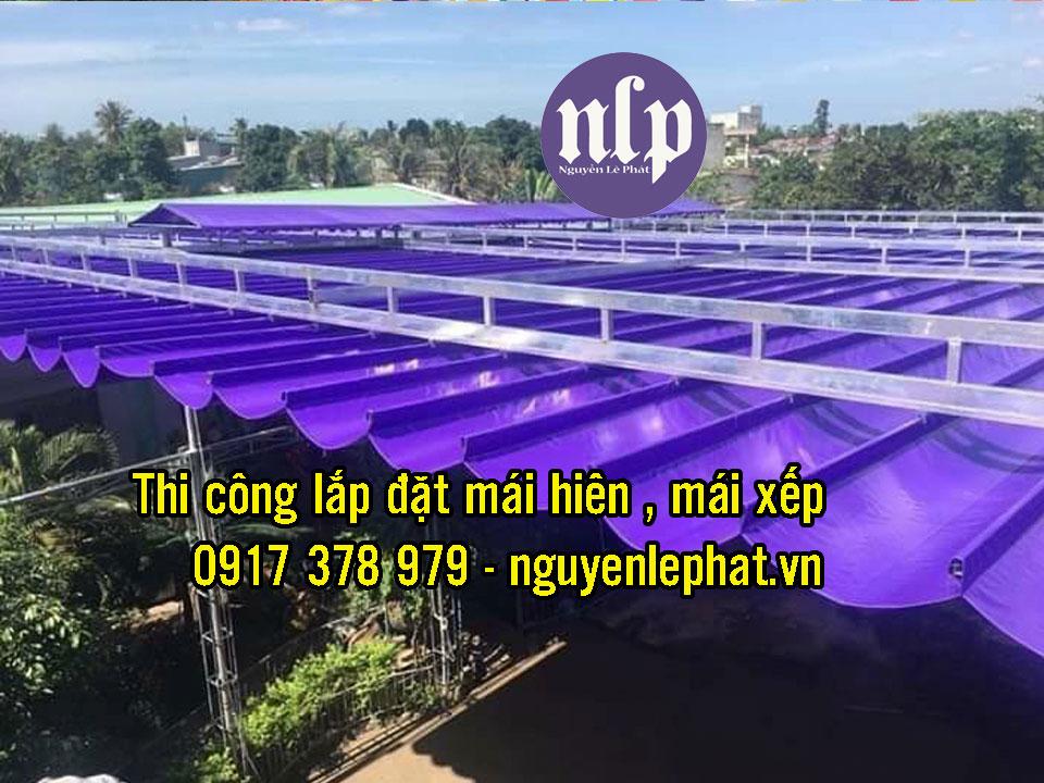 Báo Giá Thi Công Mái Bạt Kéo Ngoài Trời, Bạt Xếp Di Động Bao Nhiêu 1M2 tại Hà Nội