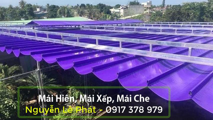 Mái xếp bạt kéo giá bao nhiêu tiền 1m2 tại khu vực Miền Trung Nghệ An Đà Nẵng
