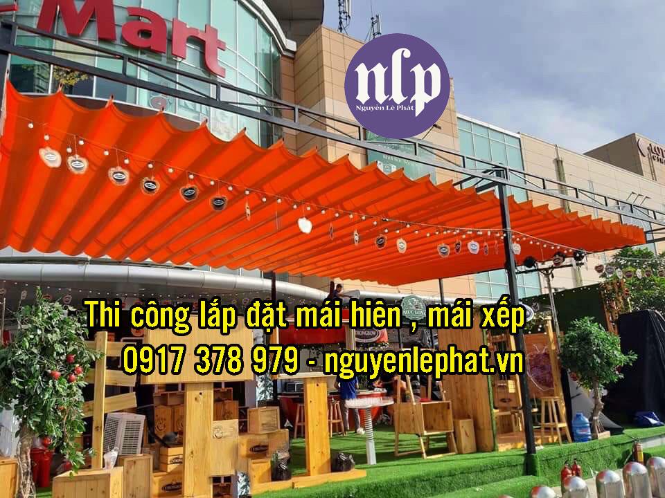 May ép Bạt Mái Hiên Xếp - Bạt Mái Kéo giá RẺ tại Tùy Hòa Phú Yên
