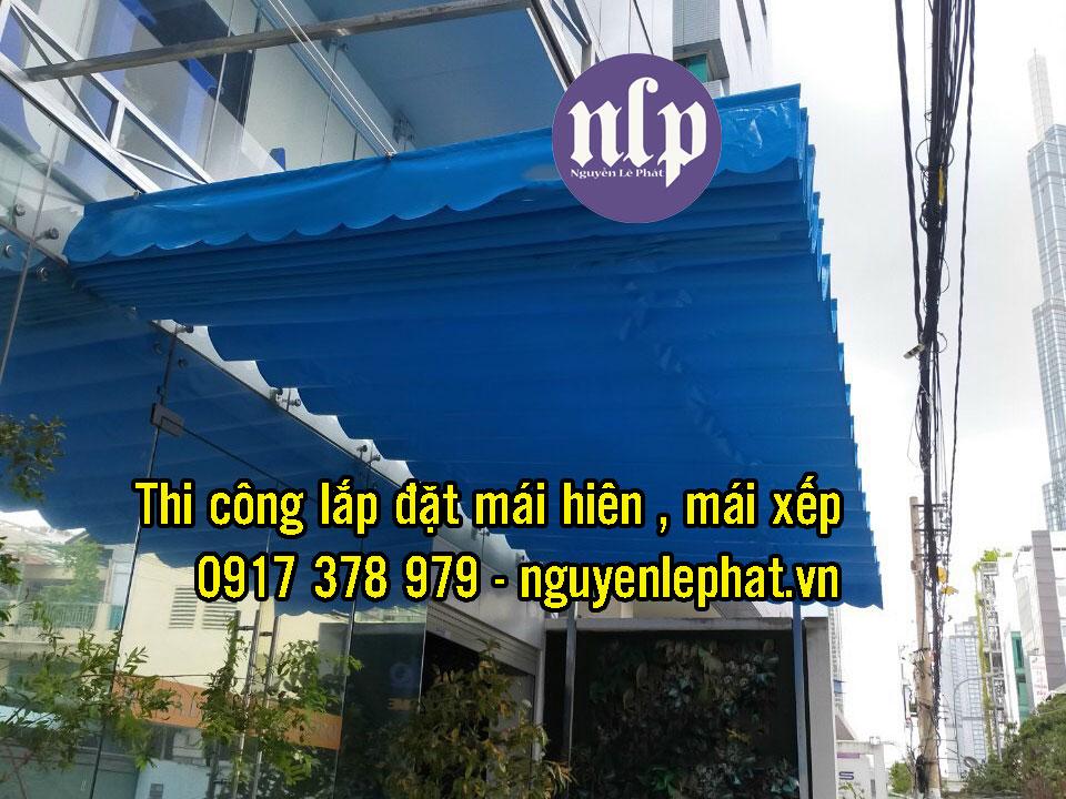Bạt kéo mái xếp ngoài trời giá rẻ nhất tại Hà Nội, Bạt mái xếp, bạt kéo là 1 loại bạt che nắng mưa ngoài trời