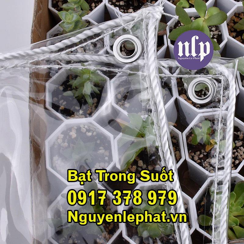 Bạt che mưa trong suốt là sản phẩm được thiết kế dạng mảnh, được bán theo mét dùng để che nắng, che mưa cho đồ vật, cây trồng nông nghiệp