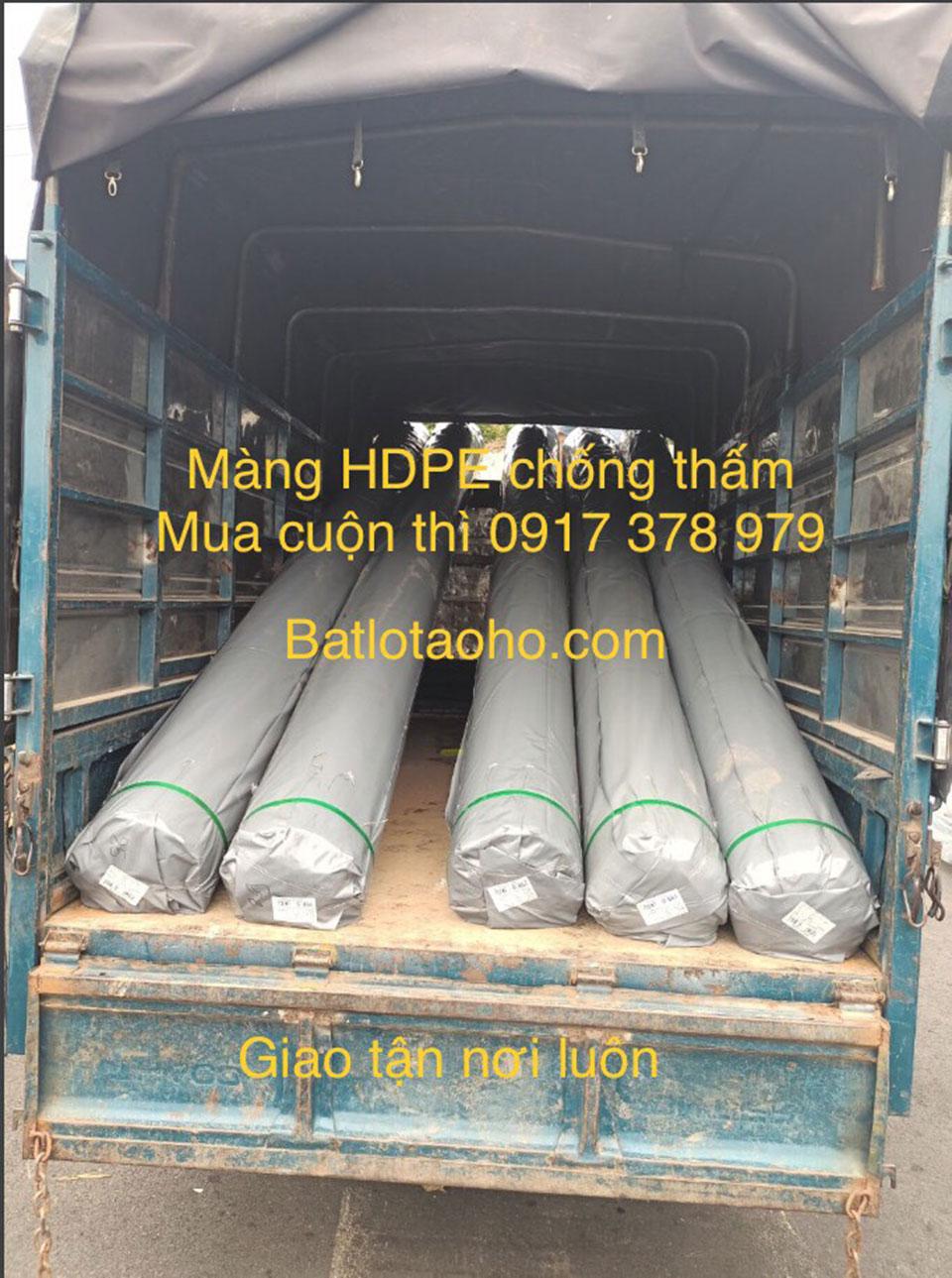 Vận chuyển bạt nhựa HDPE lót hồ chứa nước nuôi cá ở Vũng Tàu giá rẻ