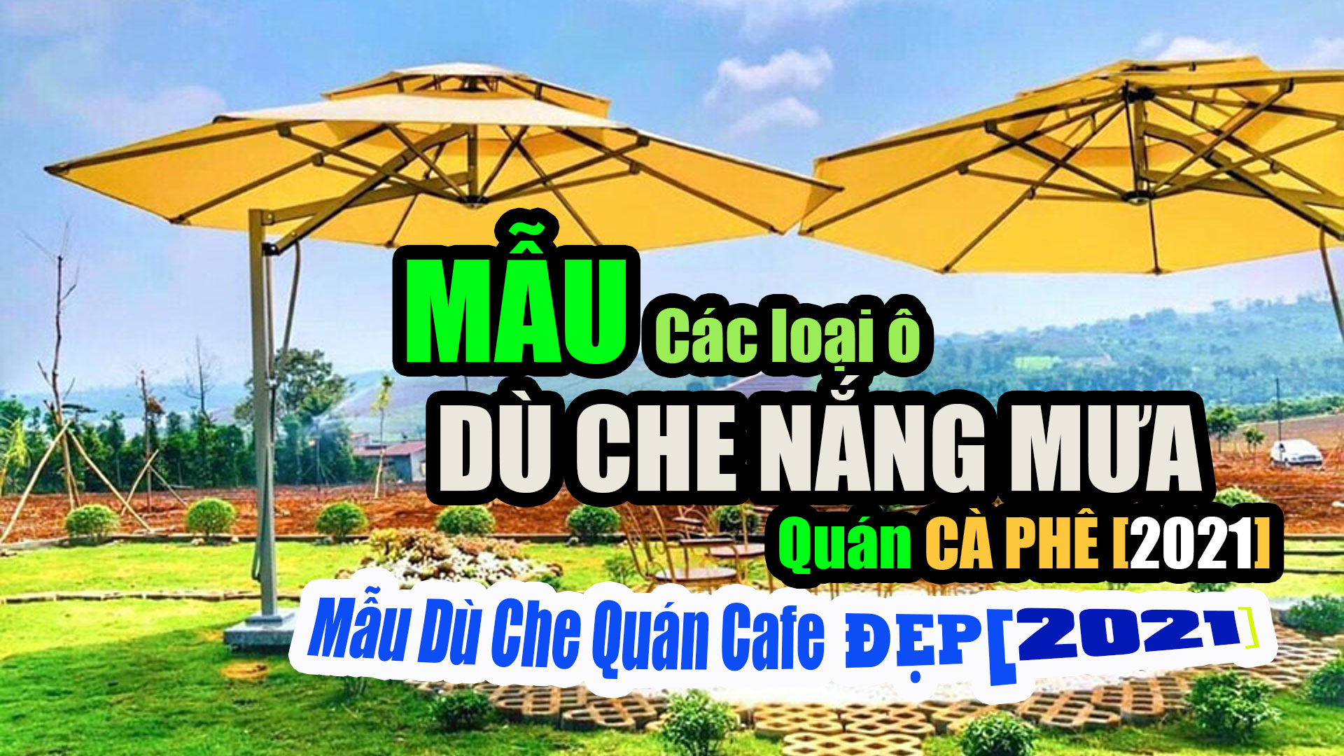 Bảng Giá Bạt Dù Che Nắng Mưa Quán Cafe