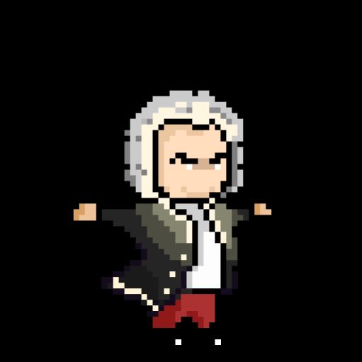 Bach T posing