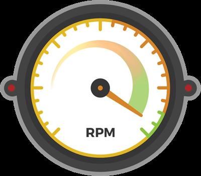 C2 Web RPM gauge