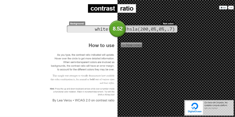 1.4.11: Contrast-ratio.com is a phenomenal resource to check color combinations for passing WCAG color contrast ratios.