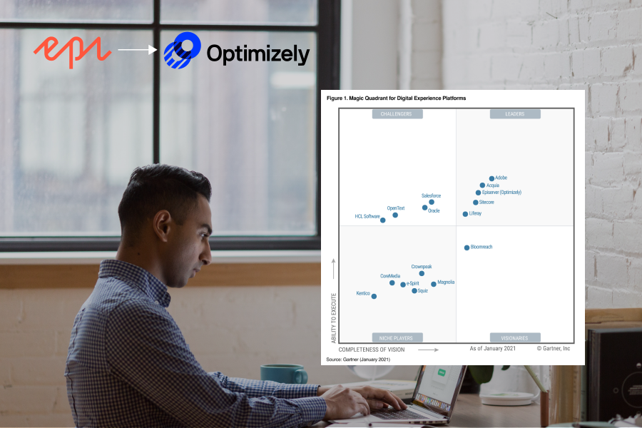 After multiple acquisitions over the years and a recent rebrand, Episerver (now Optimizely) has rightfully moved up the Gartner Magic Quadrant DXP matrix.