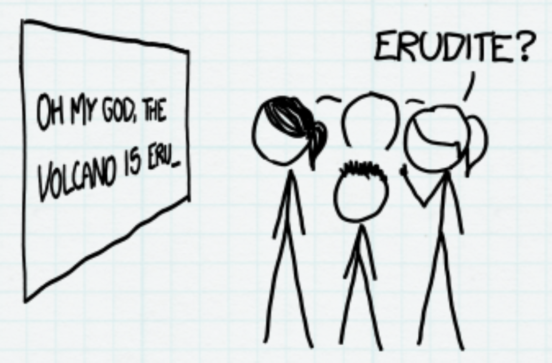 Human predicting the next word. Source: xkcd
