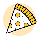 An icon of a piece of pizza.