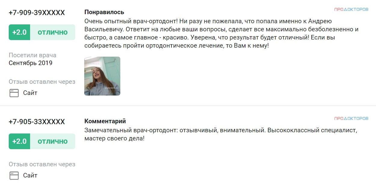 Отзывы об ортодонте Бойко А.В. на сайте про докторов