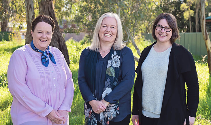 Sevens Creek Psychology team members. Dr Kate Reid, Dr Charlotte Bowmaker and Barb Putamorsi.