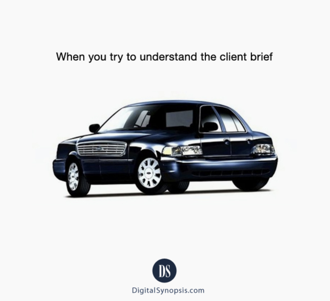 When you try to understand the client brief