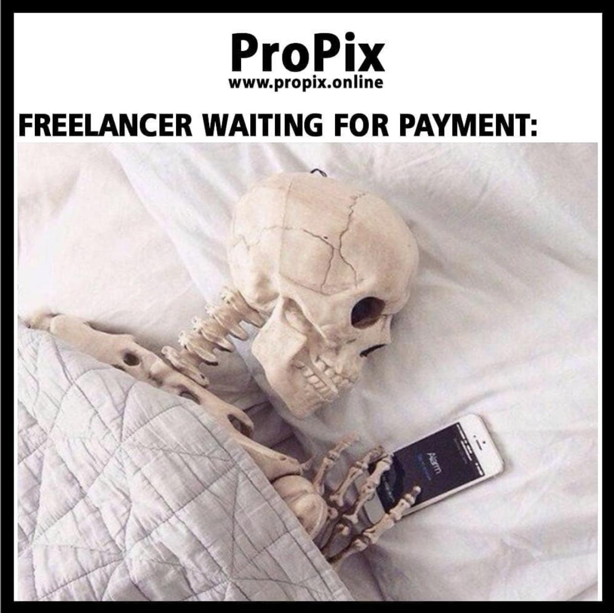 A freelancer still waiting to get paid