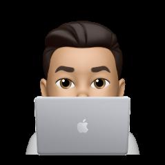 emoji - typing on laptop