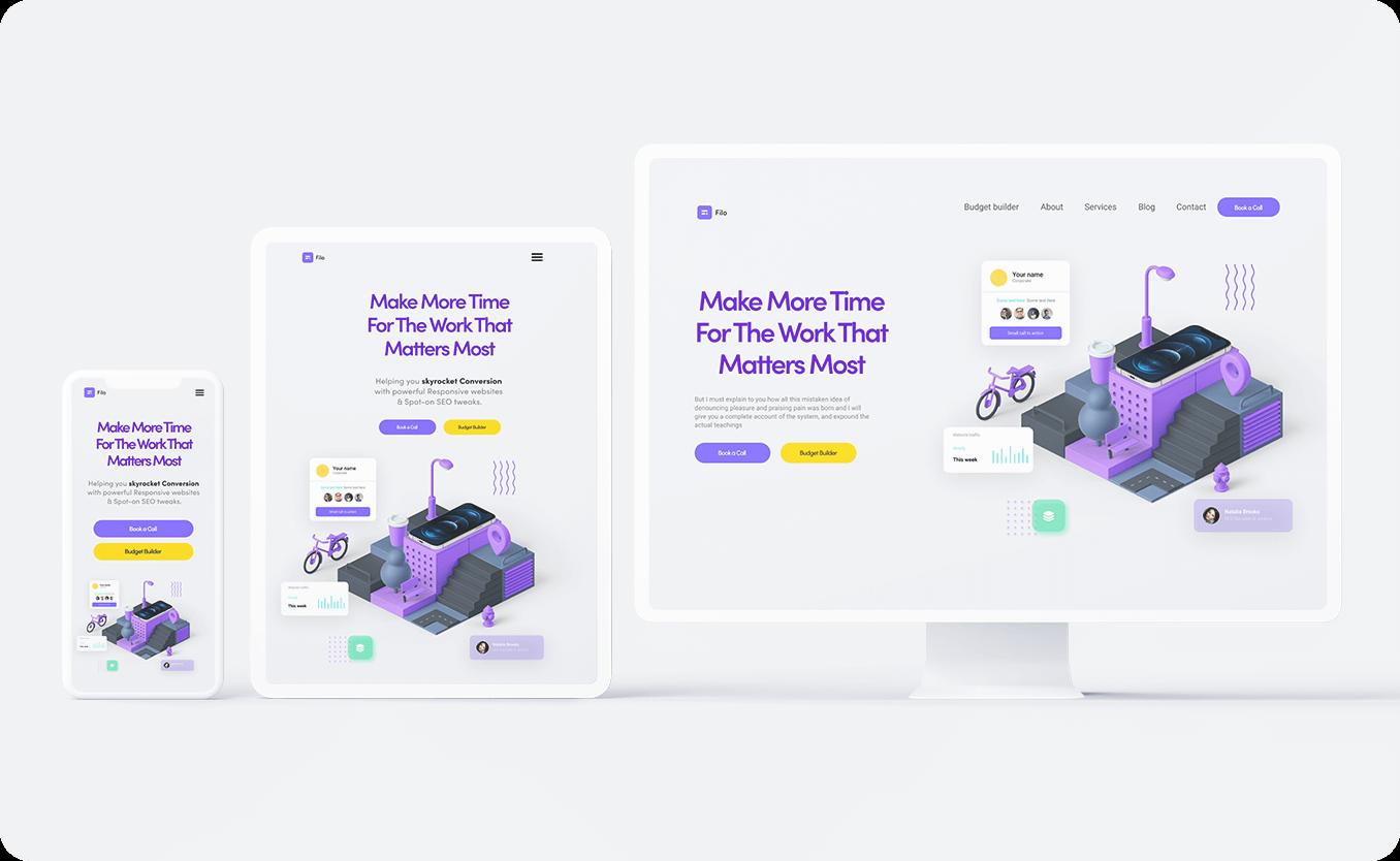 Fillo - Webdesign. UX / UI case study thumbnail