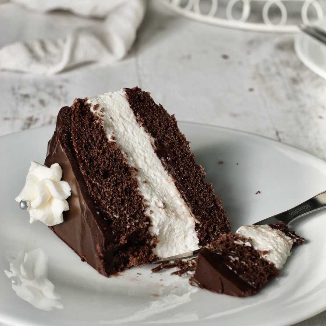 Polish Chocolate Cream Cake (WUZETKA)