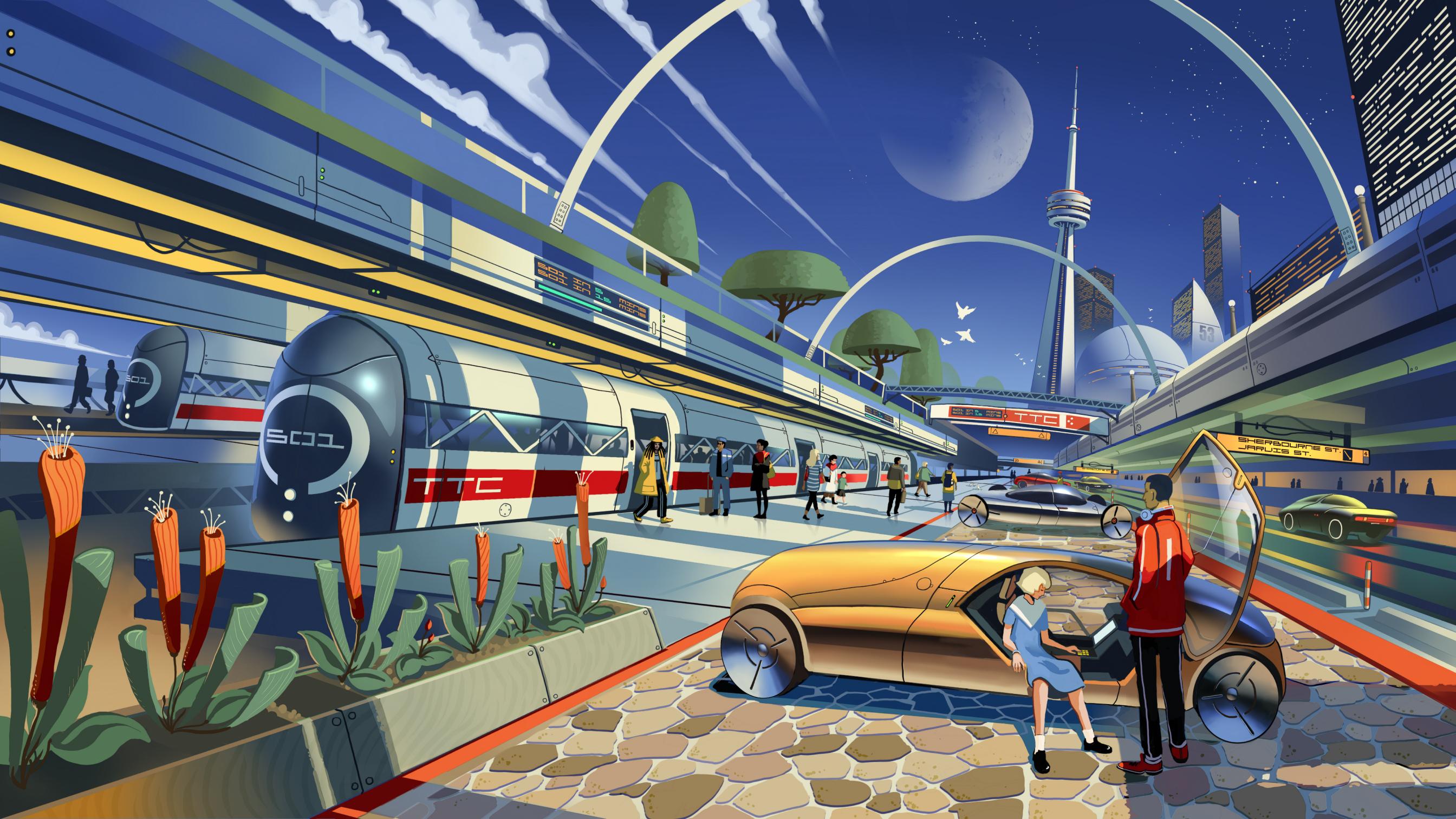 A futuristic illustration