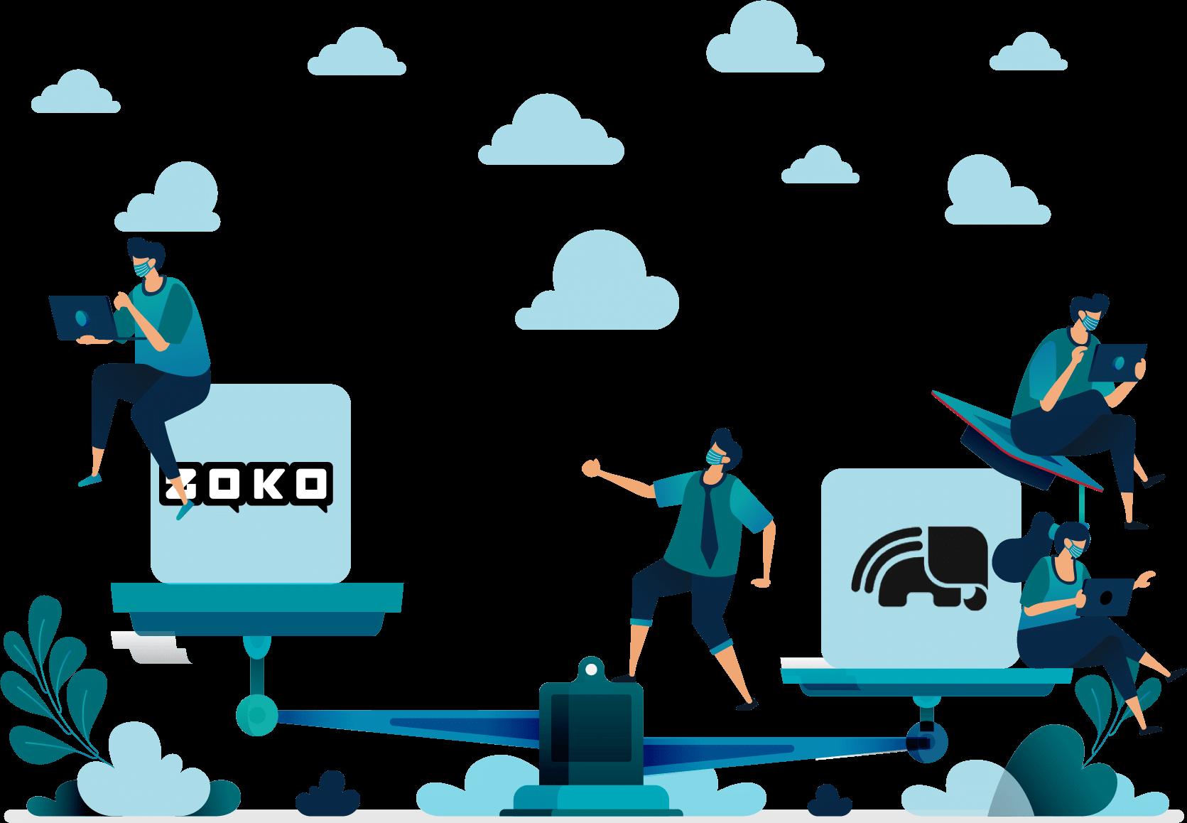Tellephant vs Zoko