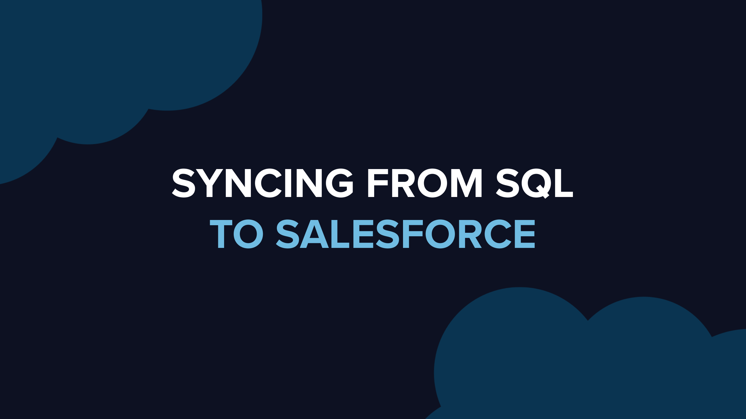 Sync warehouse data to Salesforce without writing scripts