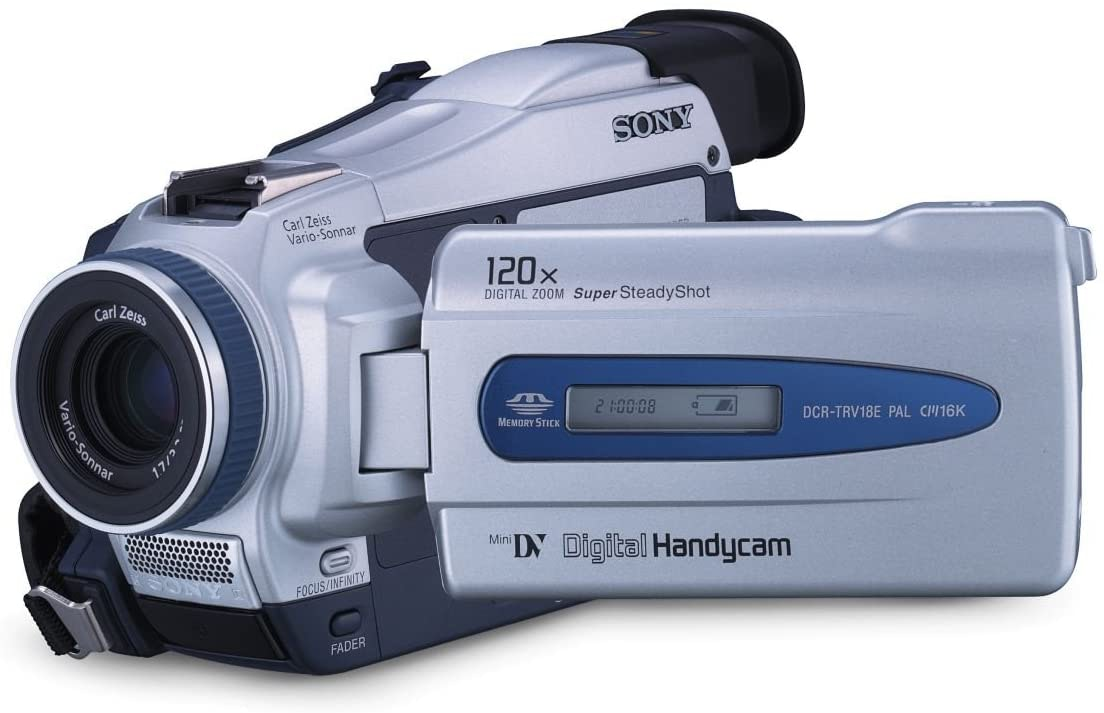 Amazon.com : Sony Handycam DCR-TRV16 - Camcorder - 800 Kpix - optical zoom:  10 x - Mini DV - silver : Electronics