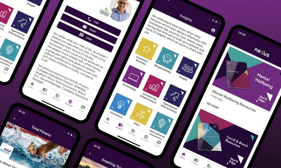 NorthEdge Nexus app product screenshots
