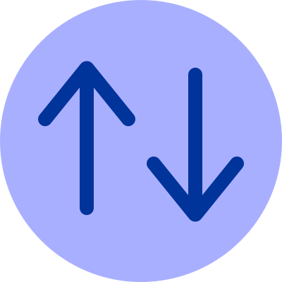 Light purple illustration of the upvote and downvote arrows.