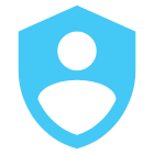 protected person icon blue