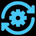 refresh engineering icon blue